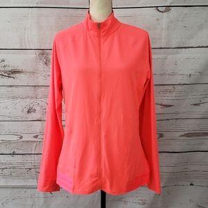 Adidas high neck full zip athletic jacket